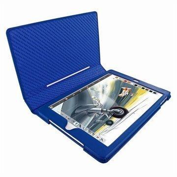 iPad Air Piel Frama Folio Style Nahkakotelo Sininen