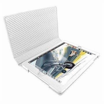 iPad Air Piel Frama Folio Style Nahkakotelo Valkoinen