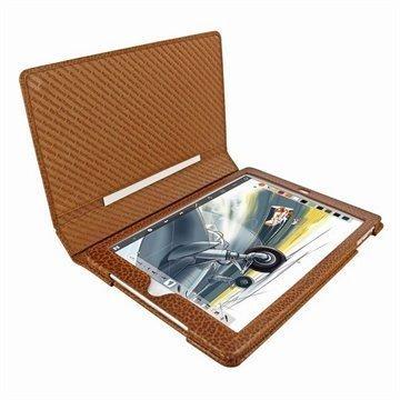 iPad Air Piel Frama Folio iForte Leather Case Kellanruskea
