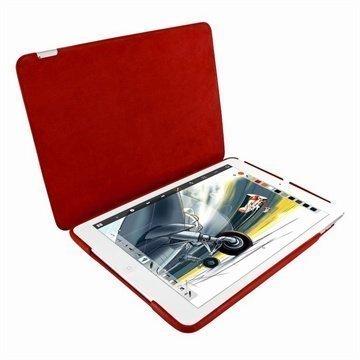iPad Air Piel Frama Framagrip Nahkakotelo Punainen