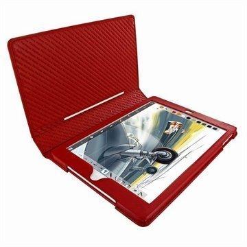 iPad Air Piel Frama Läpällinen Nahkakotelo Punainen