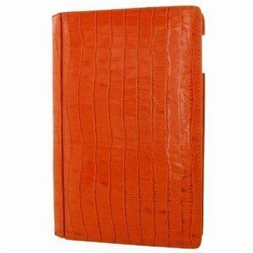 iPad Air Piel Frama Lompakkomallinen Nahkakotelo Krokotiili Oranssi