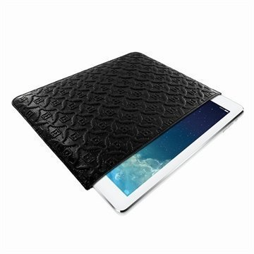 iPad Air Piel Frama Pull Nahkakotelo Musta