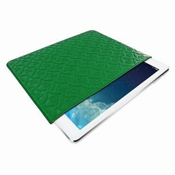 iPad Air Piel Frama Pull Nahkakotelo Vihreä