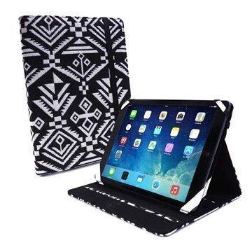 iPad Air Tuff-luv Slim-Stand Kotelo Navajo Musta / Valkoinen