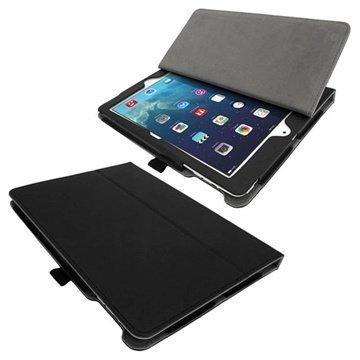 iPad Air iGadgitz Ergo-Portfolio PU-Nahkakotelo Musta