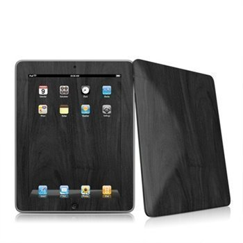 iPad Black Woodgrain Skin