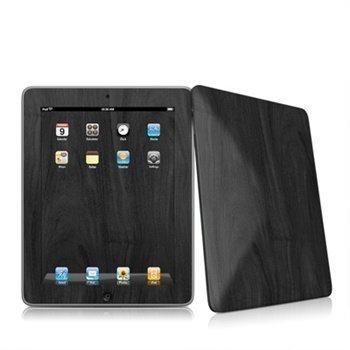 iPad Black Woodgrain Skin