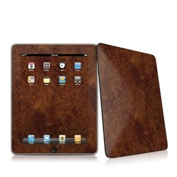 iPad Dark Burlwood Skin