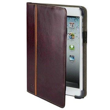 iPad Mini 2 Maroo Saddle Brown Folio Nahkainen Suojakotelo Ruskea