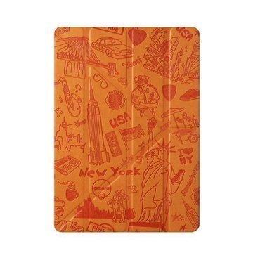 iPad Mini 2 Ozaki O!Coat Travel 360° Multi-Angle Smart Case New York