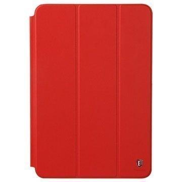 iPad Mini 2 iPad Mini 3 Baseus Primary Color Series Smart Kotelo Punainen