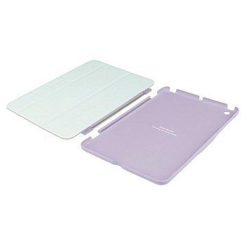 iPad Mini 2 iPad Mini 3 Macally Covermate Läpällinen Nahkakotelo Violetti