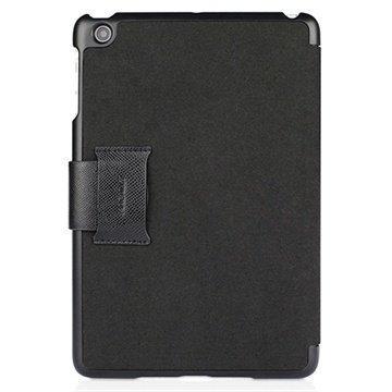 iPad Mini 2 iPad Mini 3 Macally Folio Nahkakotelo Musta
