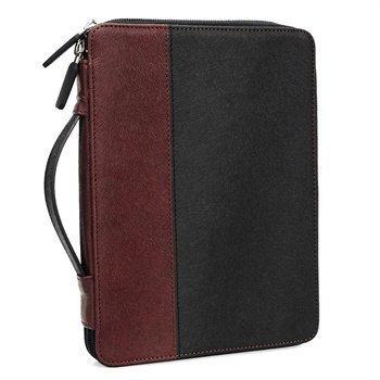 iPad Mini 2 iPad Mini 3 Tuff-Luv Roma Zip Nahkainen Kotelo Musta / Mahonki