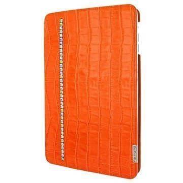 iPad Mini 3 Piel Frama FramaSlim Flip Nahkakotelo Krokotiili Swarovski Oranssi