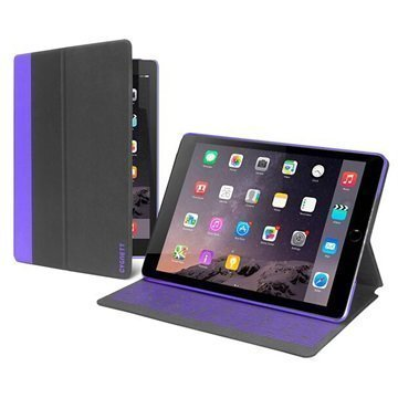 iPad Mini 4 Cygnett Tekshell Slim Folio Kotelo Musta / Violetti