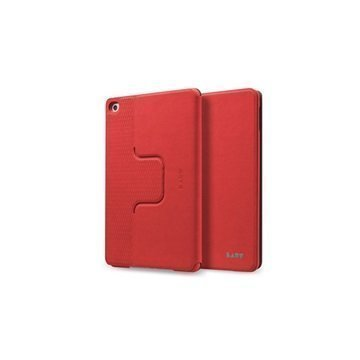 iPad Mini 4 Laut R-Evolve Pyörivä Smart Folio Kotelo Punainen