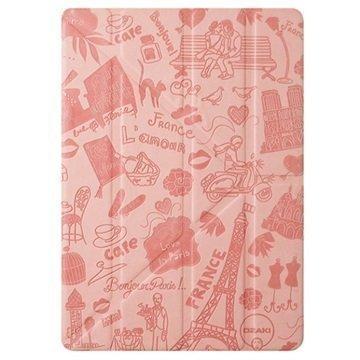 iPad Mini 4 Ozaki O!Coat Travel Moniasentoinen Smart Läppäkotelo Pariisi Pinkki