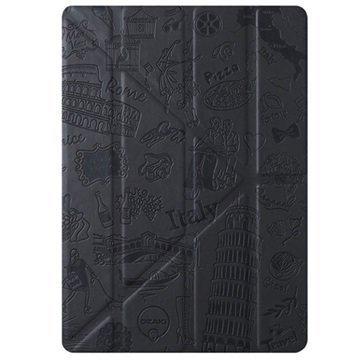 iPad Mini 4 Ozaki O!Coat Travel Moniasentoinen Smart Läppäkotelo Roma Musta