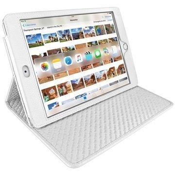 iPad Mini 4 Piel Frama Cinema Nahkakotelo Valkoinen