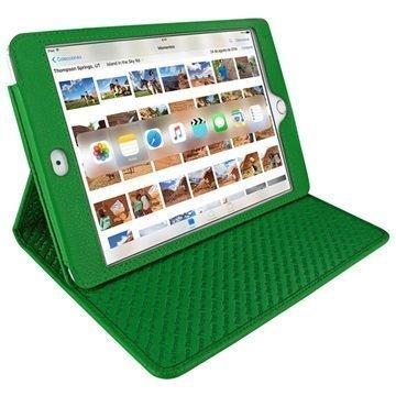 iPad Mini 4 Piel Frama Cinema Nahkakotelo Vihreä
