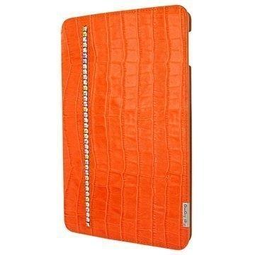 iPad Mini 4 Piel Frama FramaSlim Nahkakotelo Krokotiili Swarovski Oranssi