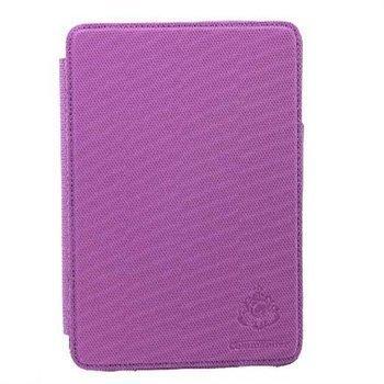 iPad Mini Commander Deluxe Nahkakotelo Violetti Hiilikuitukuviointi
