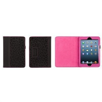 iPad Mini Griffin Moxy Big Cat Keinonahkakotelo Musta / Pinkki