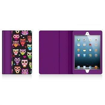 iPad Mini Griffin Moxy Wise Eyes Keinonahkakotelo Musta / Luumu