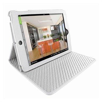 iPad Mini Piel Frama Cinema Nahkakotelo Valkoinen