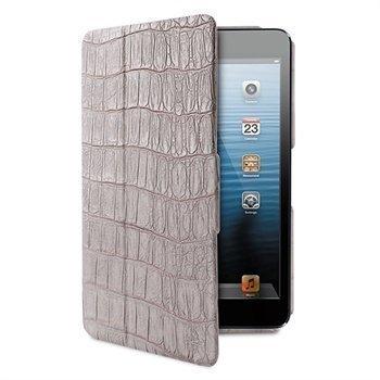 iPad Mini Puro Booklet Crocodile PU Nahkakotelo Harmaa