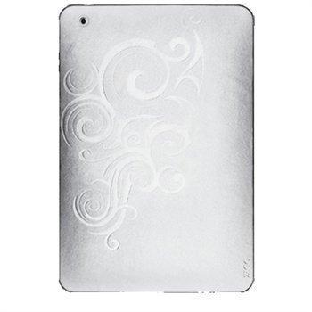 iPad Mini ZAGG Nahkasuojus Kohokuvioitu Valkoinen