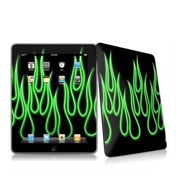 iPad Neon Flames Skin Green