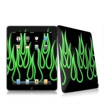 iPad Neon Flames Skin Green