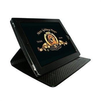 iPad Piel Frama Cinema Magnetic Closure Nahkakotelo Musta