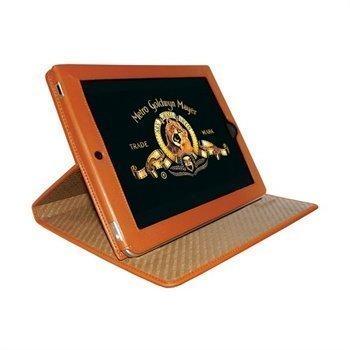 iPad Piel Frama Cinema Magnetic Closure Nahkakotelo Oranssi
