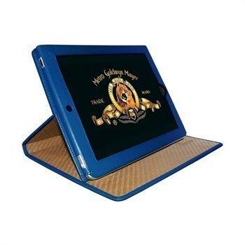 iPad Piel Frama Cinema Magnetic Closure Nahkakotelo Sininen