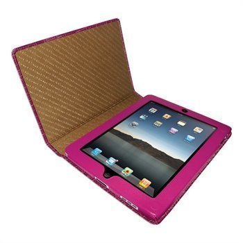 iPad Piel Frama Magnetic Closure Crocodile Nahkakotelo Fuchsia Verenpunainen
