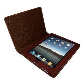 iPad Piel Frama Magnetic Closure Crocodile Nahkakotelo Ruskea