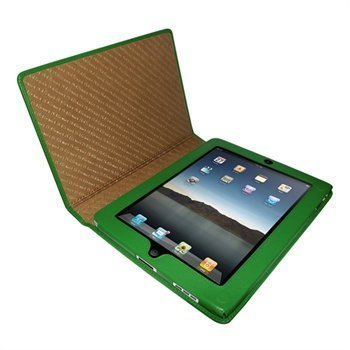 iPad Piel Frama Magnetic Closure Nahkakotelo Vihreä