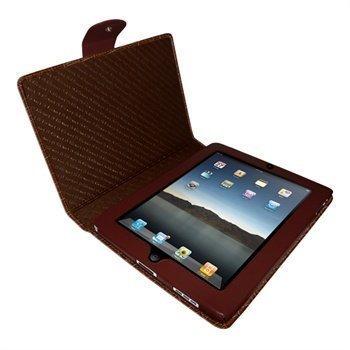 iPad Piel Frama Snap Closure Crocodile Nahkakotelo Ruskea