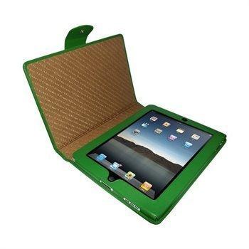 iPad Piel Frama Snap Closure Nahkakotelo Vihreä