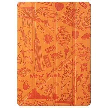 iPad Pro 9.7 Ozaki O!Coat Travel Moniasentoinen Smart Läppäkotelo New York Oranssi