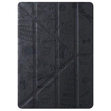 iPad Pro 9.7 Ozaki O!Coat Travel Moniasentoinen Smart Läppäkotelo Roma Musta