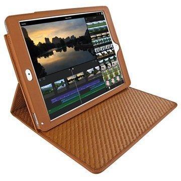 iPad Pro 9.7 Piel Frama Cinema Nahkakotelo Kellanruskea