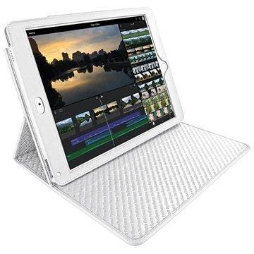 iPad Pro 9.7 Piel Frama Cinema Nahkakotelo Valkoinen