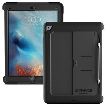 iPad Pro Griffin Survivor Slim Suojakuori Musta