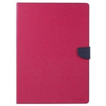 iPad Pro Mercury Goospery Fancy Diary Folio Kotelo Kuuma Pinkki / Tummansininen