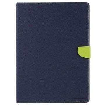 iPad Pro Mercury Goospery Fancy Diary Folio Kotelo Tummansininen / Vihreä